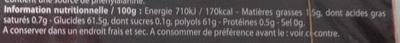 Style parfum fraise onctueuse - Informations nutritionnelles - fr