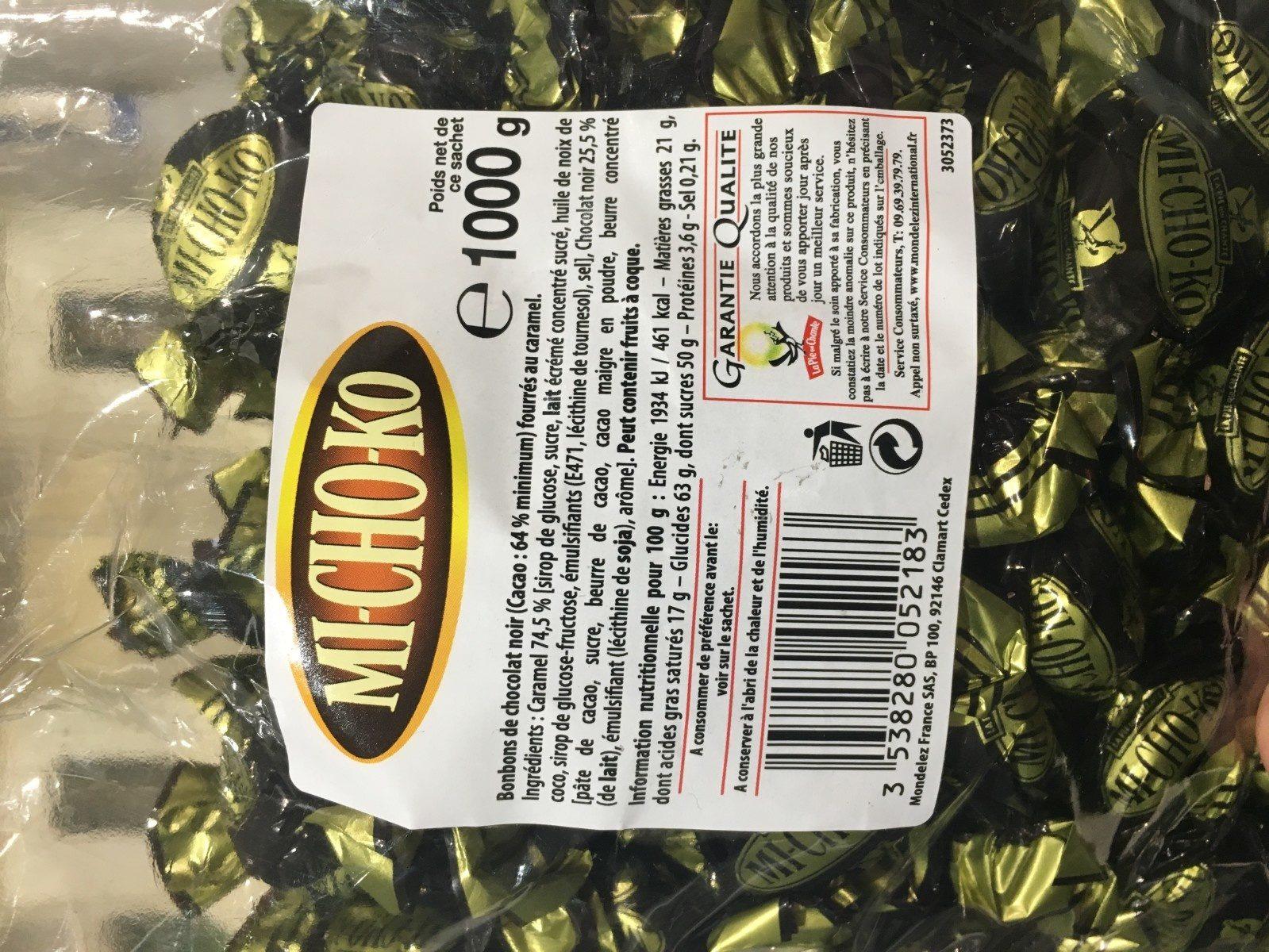 1KG Michoko Noir 64% La Pie Qui Chante - Ingrediënten - fr