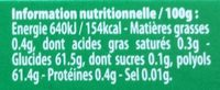 Green Fresh - Informations nutritionnelles