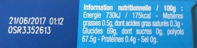 Hollywood Ice Fresh - Informations nutritionnelles - fr