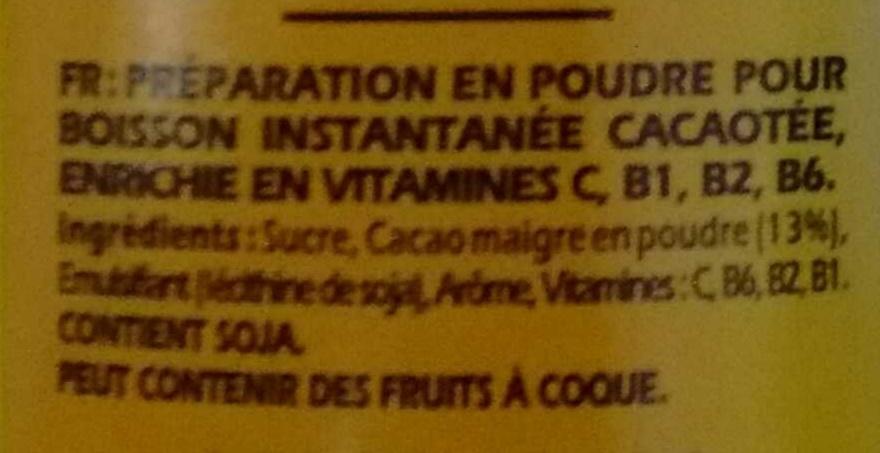 Super Poulain - Ingrédients - fr