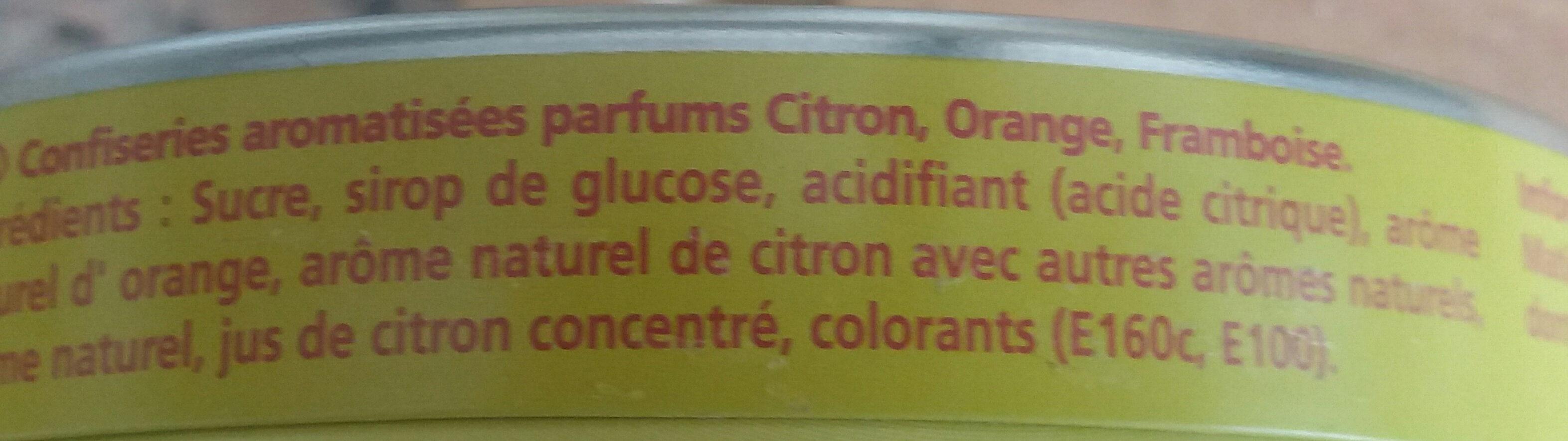 La Vosgienne Parfums Framboise Citron Orange - Ingredients - fr
