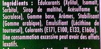 40 minutes de fraicheur gout menthe verte - Ingrédients - fr