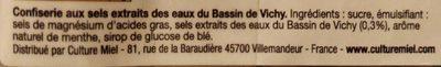 Pastilles du bassin de vichy - Ingrediënten - fr
