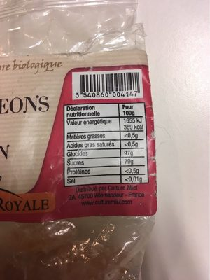 Bourgeons Sapin Au Miel - Voedingswaarden - fr