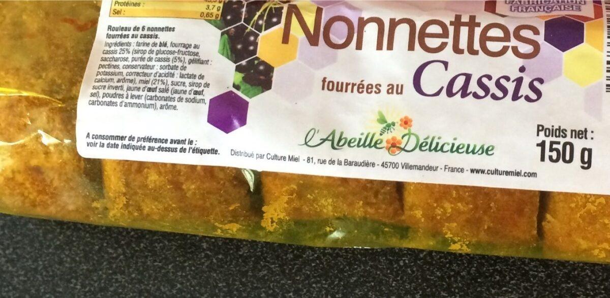 Nonnettes Cassis Culture Miel 150 G