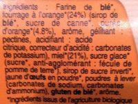 Nonnettes Bio au Miel et à l'orange - Ingrédients - fr