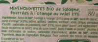 Mini nonnettes de sologne - Ingrédients - fr
