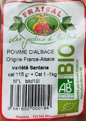 Pomme d'Alsace - Ingrédients - fr