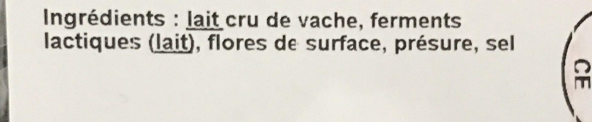 Mont d'Or - Ingredients - fr