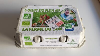 6 oeufs bio plein air - Product - fr