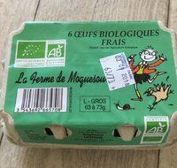 6 oeufs biologiques frais - Product - fr