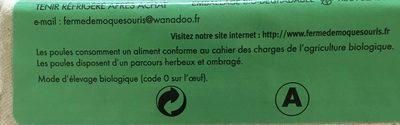 6 oeufs biologiques frais - Ingredients - fr