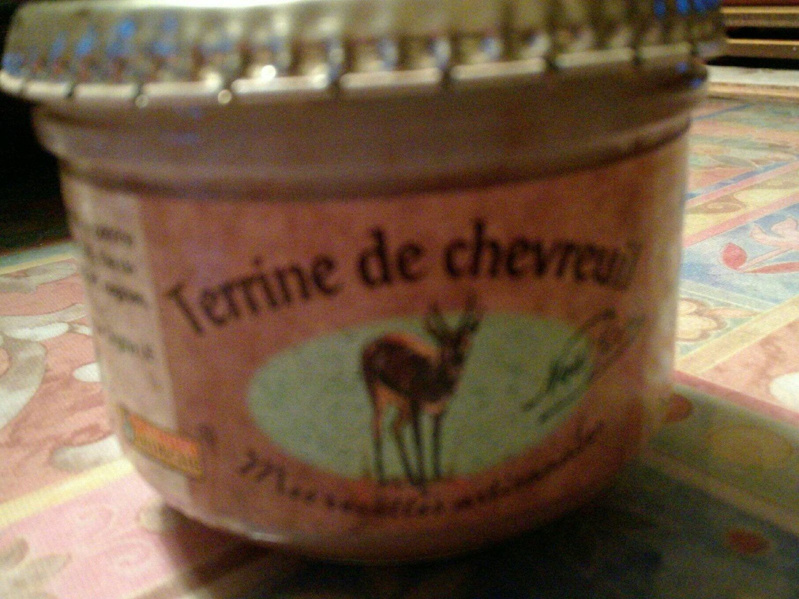 Terrine de chevreuil - Produit