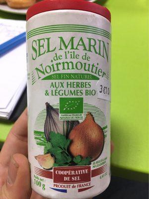 Sel Marin de l'Île de Noirmoutier aux herbes & légumes bio - Product
