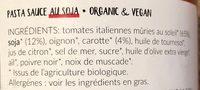 Pasta sauce au soja - Ingrediënten