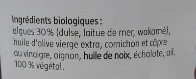Tartare d'Algues classique - Ingrediënten