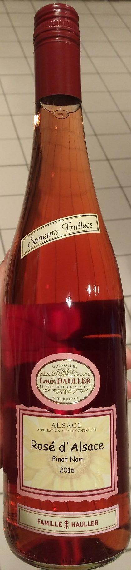 Rosé d'Alsace Pinot Noir 2016 - Produit - fr