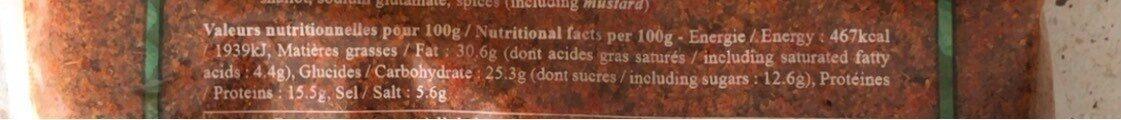 Poudre De Saté 1KG - Valori nutrizionali - fr
