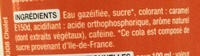 Paris Cola - Ingredienti - fr