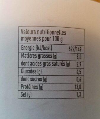 Cassoulet aux haricots tarbais et au confit de canard - Informations nutritionnelles
