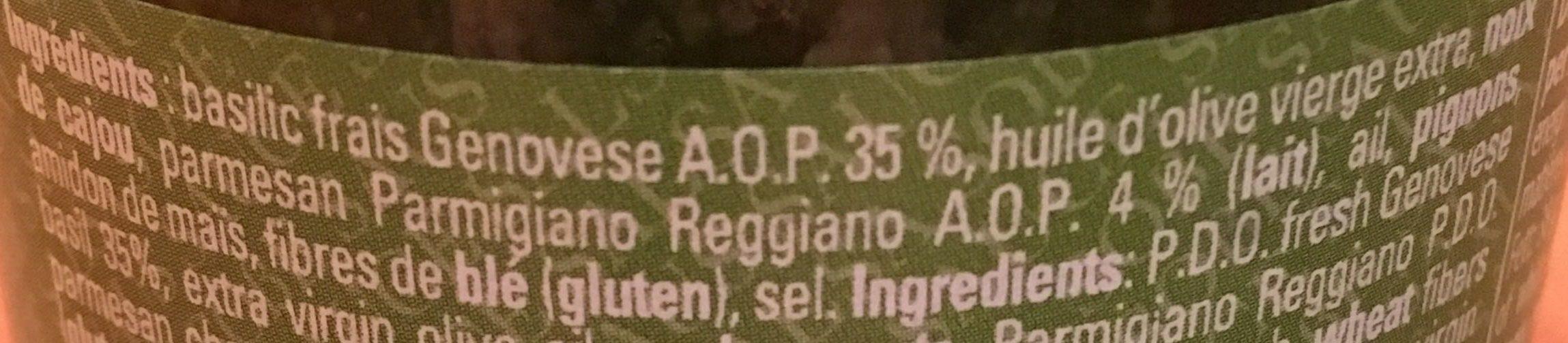 Pesto alla genovese - Ingrédients - fr