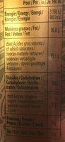 Spécialité à Base d'Olive et de Basilic - Informations nutritionnelles