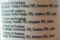 Douceur de vinaigre a la framboise - Ingredients - fr
