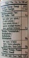 Douceur de vinaigre a la framboise - Nutrition facts - fr
