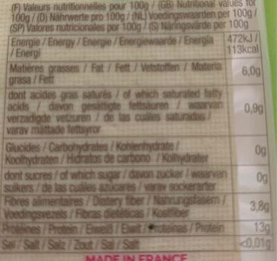 Tofu traditionnel - Valori nutrizionali - fr