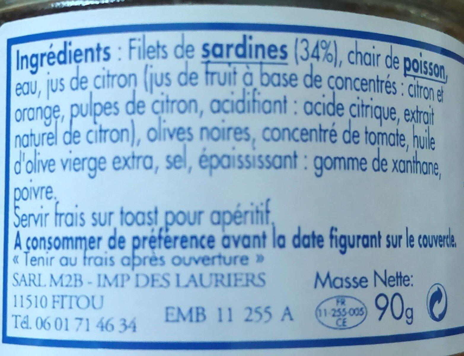 Sardinade - Ingredients