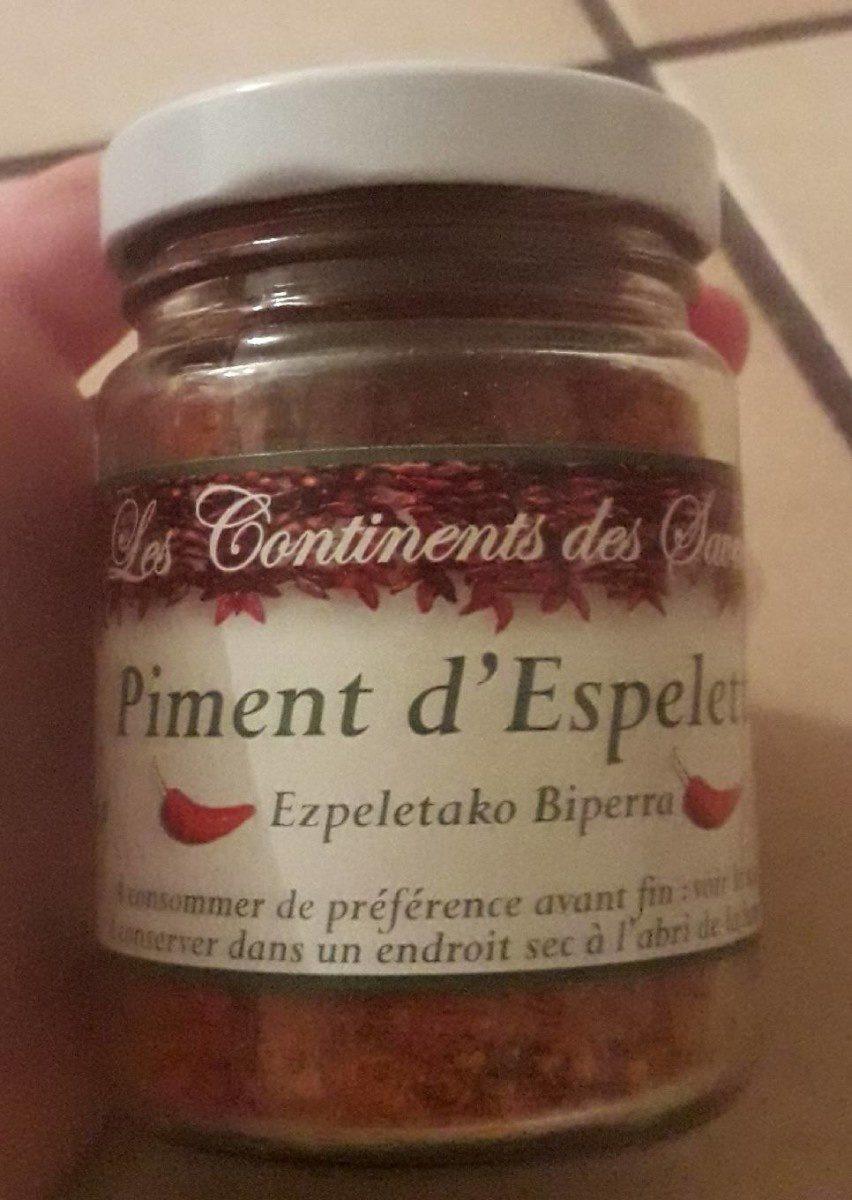 Piment D'espelette A.o.c - Produit - fr