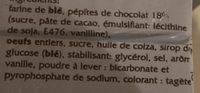 Cake Pépites de Chocolat - Ingrediënten