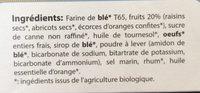 Cake Aux Fruits Bio - Ingrediënten