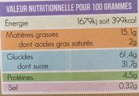 Cake Aux Fruits Bio - Voedingswaarden