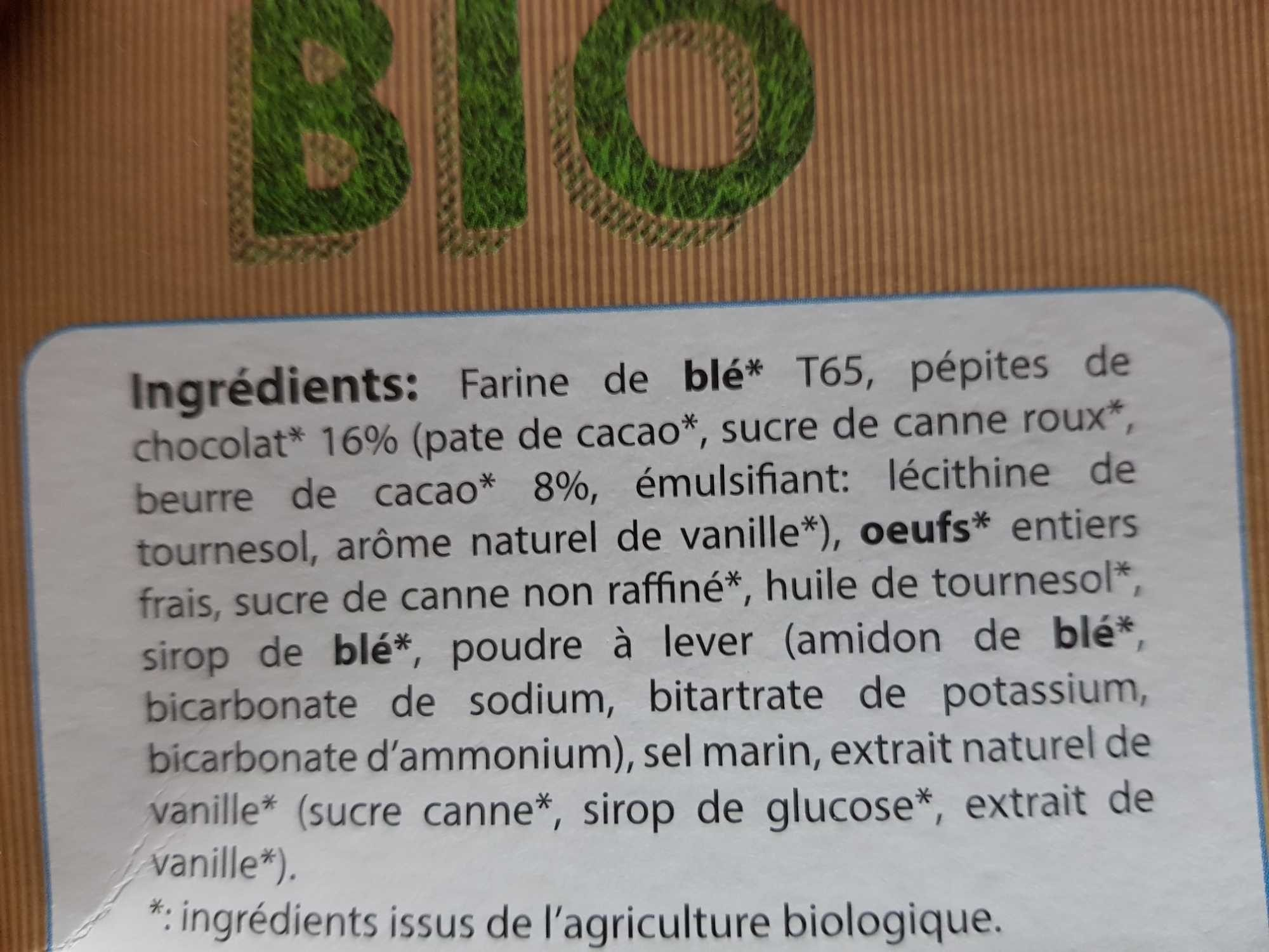 5X35G Cake Pepites De Chocolats Bio - Product - fr