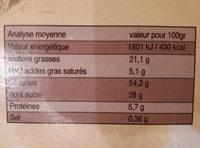 5X35G Cake Pepites De Chocolats Bio - Nutrition facts - fr