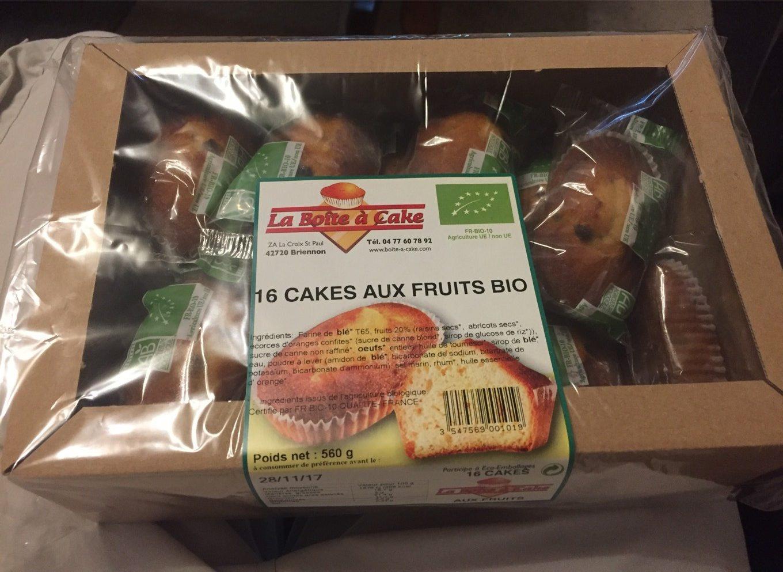 16 cakes aux fruits bio - Product - fr