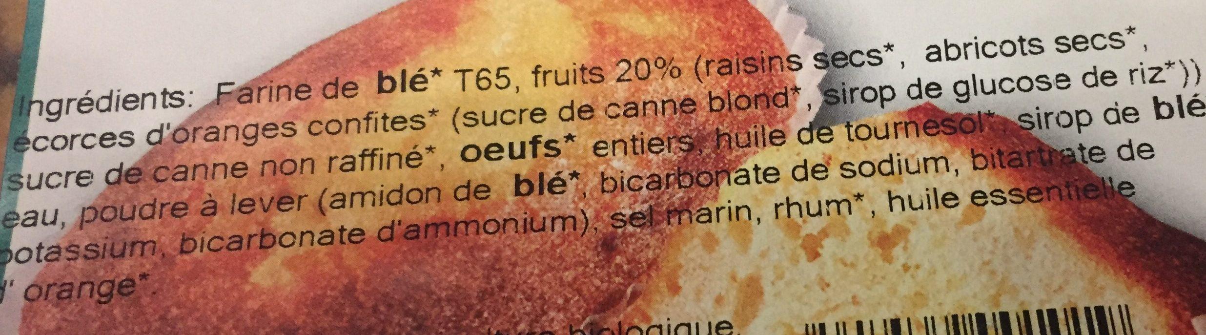 16 cakes aux fruits bio - Ingrediënten - fr