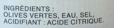 """Grüne """"Lucques"""" Oliven Nature - Ingredients - fr"""