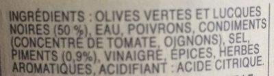 Cocktail d'Olives Piquantes - Ingredients