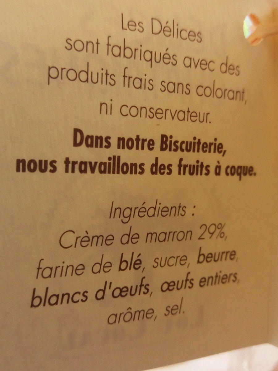 Délices aux châtaignes - Ingrédients - fr