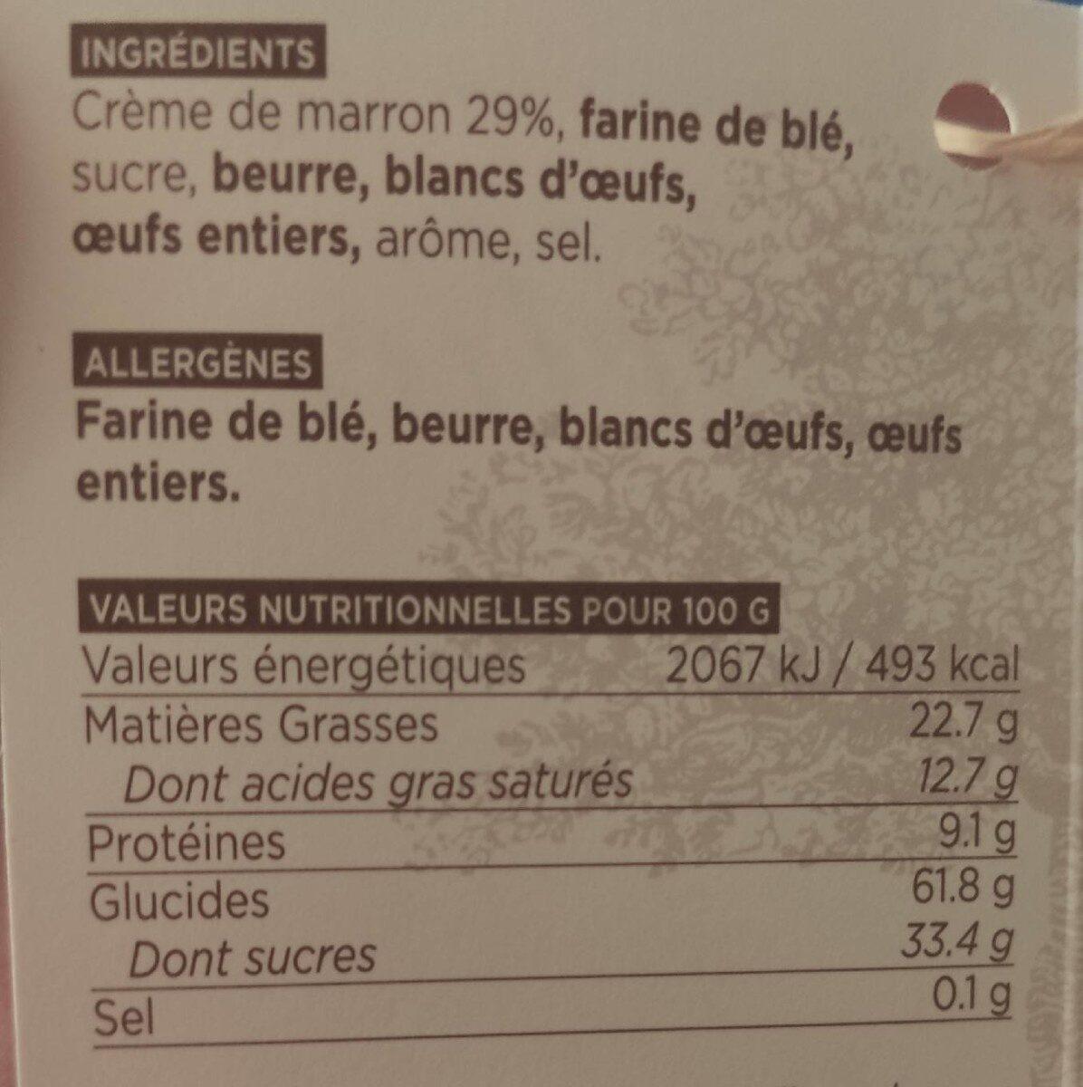 Délices aux châtaignes - Informations nutritionnelles - fr