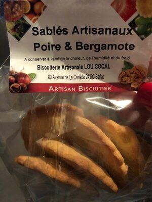 Sablés Artisanaux Poire &Bergamote - Product