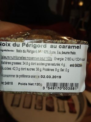 Noix du perigord au caramel - Ingredients - fr