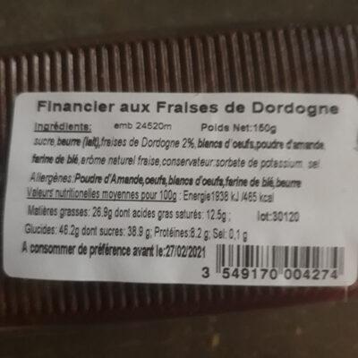 Financier aux Fraises de Dordogne - Ingredients