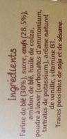 Mes Premiers Boudoirs Vanille Picot - Ingredients