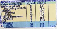 PICOT Pepti junior Dessert sans lait dès 6 mois 4x100g CACAO - Informations nutritionnelles - fr