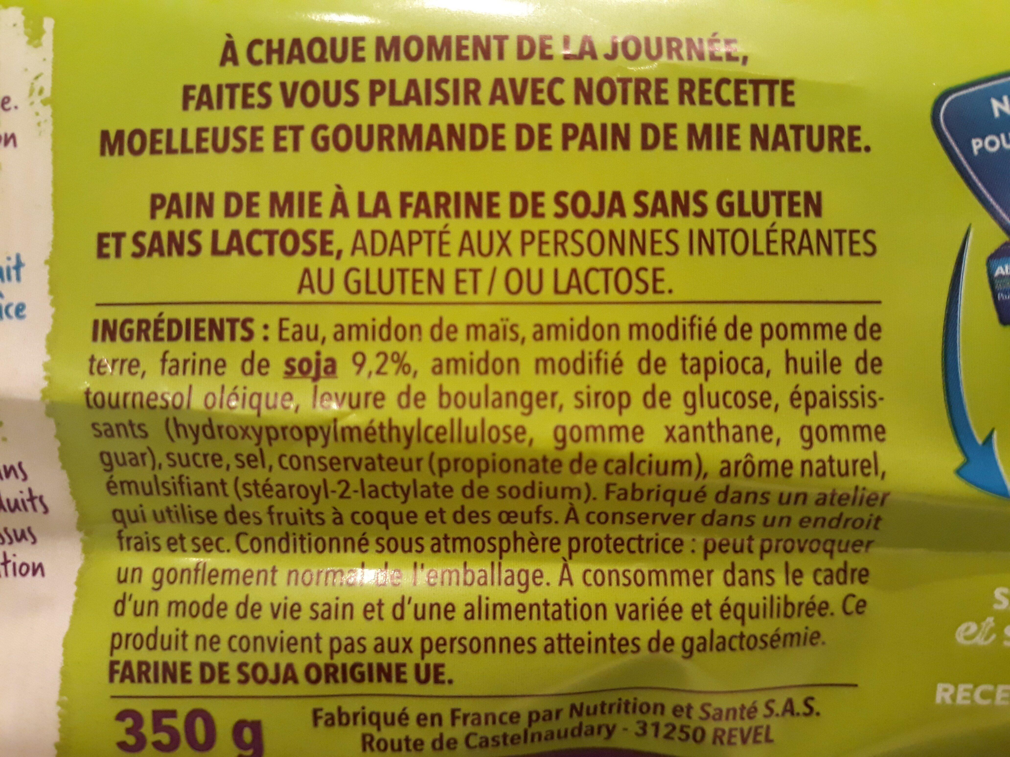 Pain de mie - Ingrédients - fr