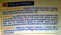 Pain aux graines Allergo sans gluten - Ingredients - fr